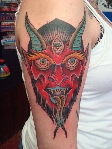 Gargoyle Tattoos For Girls