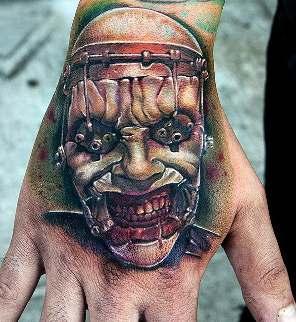 Ghost Tattoo on hand for men