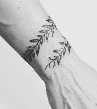 Vine Tattoo On Wrist Of A Man