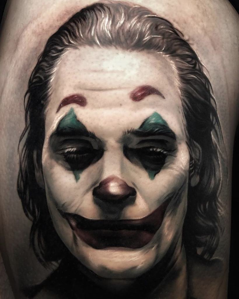 Joker Face Tattoo