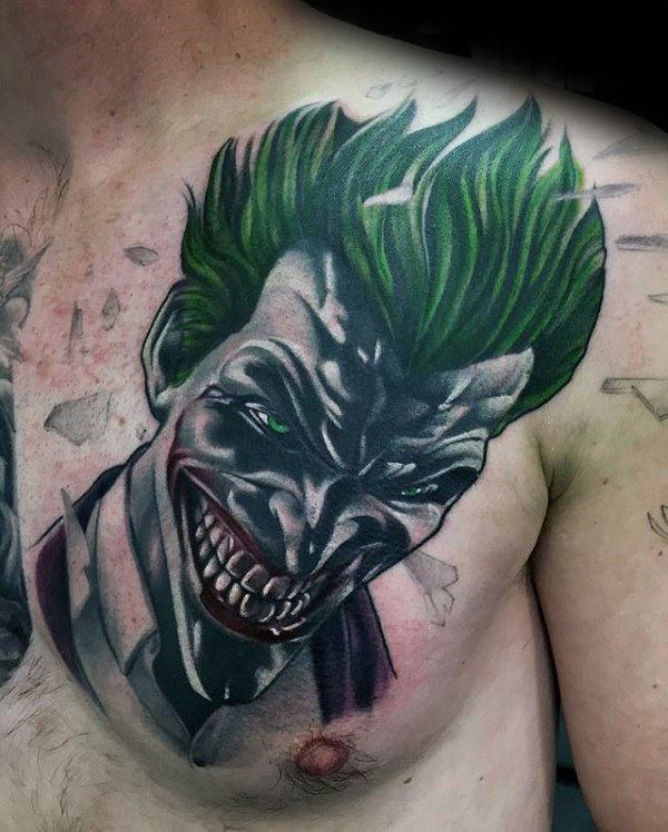 Joker Tattoo on chest