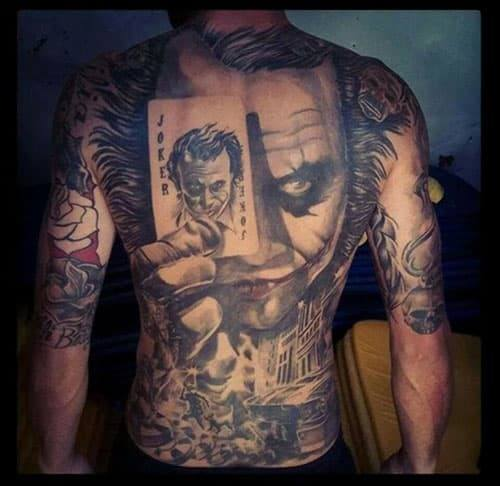 Joker Tattoo with Cards