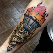 Fire Torch Tattoo for Men