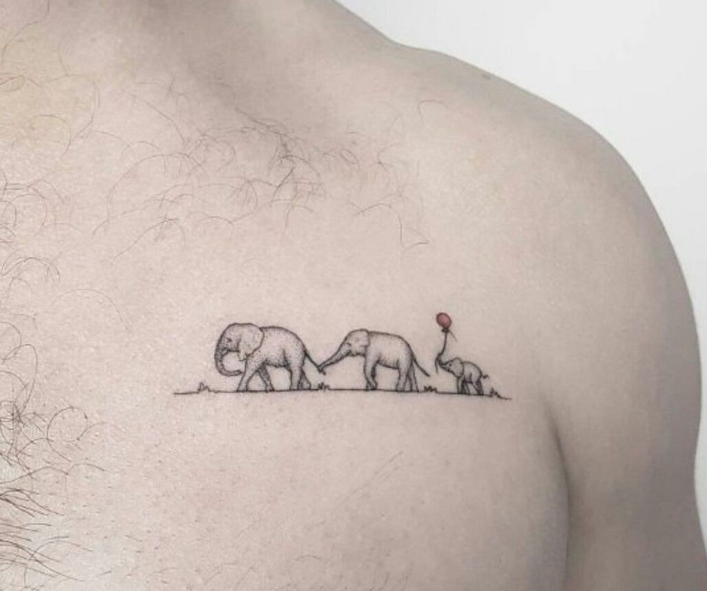 Elephant Tattoo With Family.