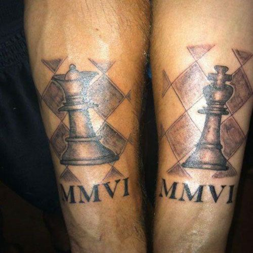 King Queen Chess Tattoo