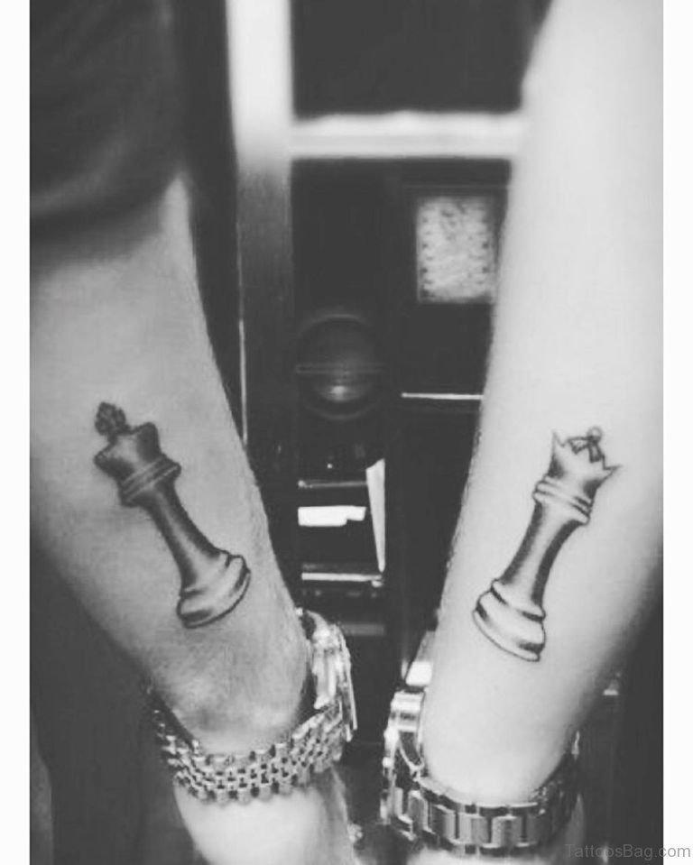 Couple Chess Tattoo