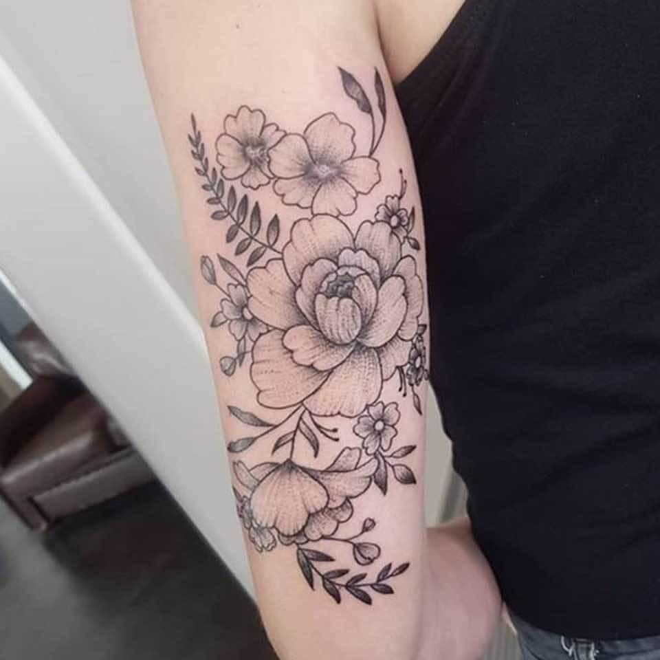 Magnolia Tattoo on Hand