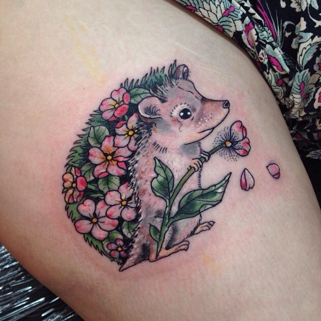 Hedgehog Tattoo for Women