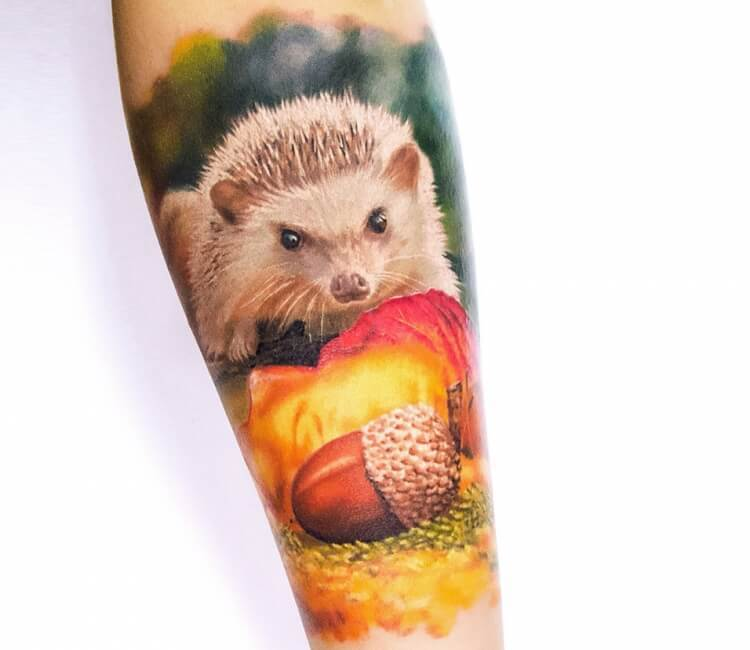Hedgehog Tattoo for men