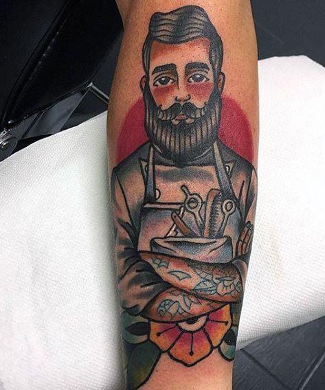 Barber Tattoo on hand