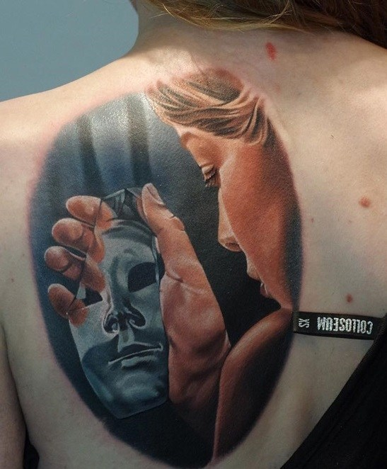Mirror Tattoo for women at back
