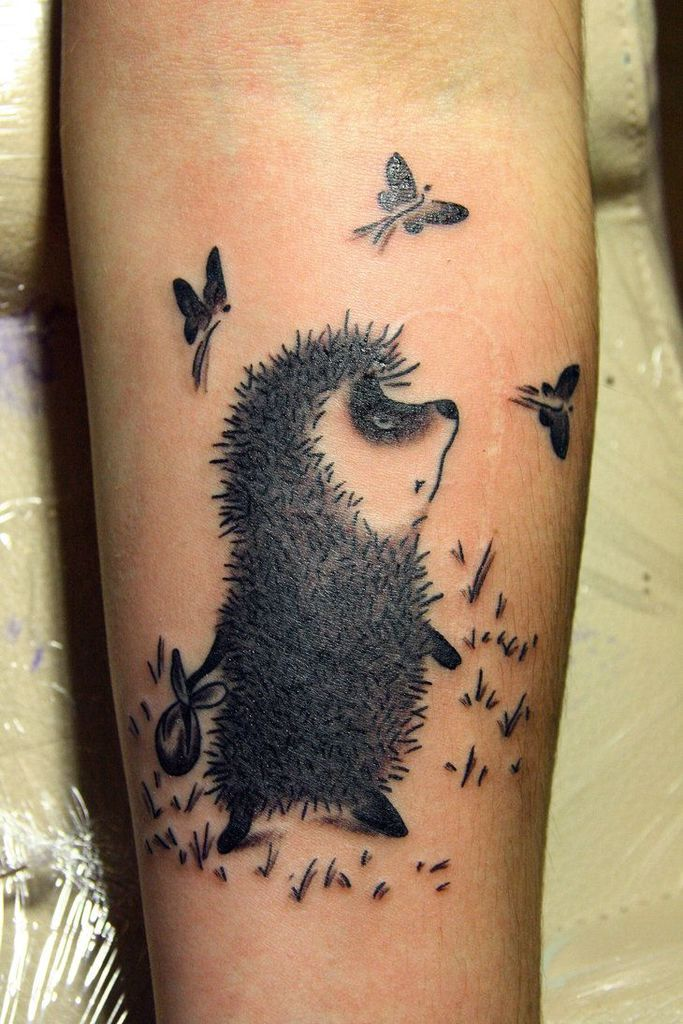 Hedgehog Tattoo on hand