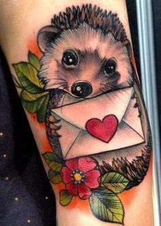Colorfull Hedgehog Tattoo