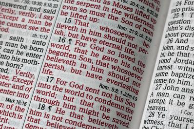 John 3:16 Verse Text.
