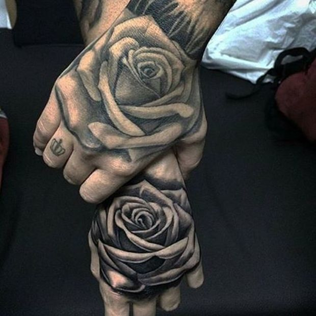 Couple Rose Tattoo
