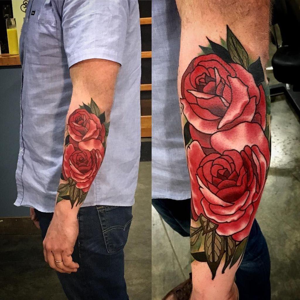 Bold Rose Tattoo