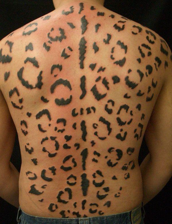 Black Cheetah Print Tattoo for Men