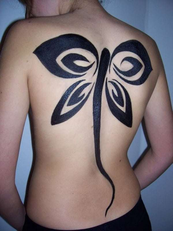 Butterfly Tattoo at Back
