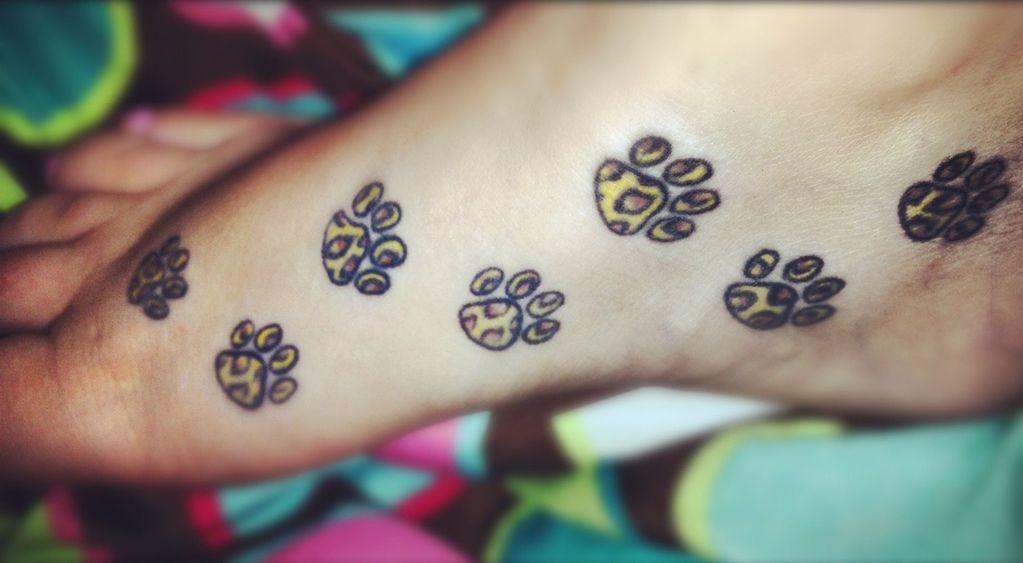 Cheetah Foot Print Tattoo for Women