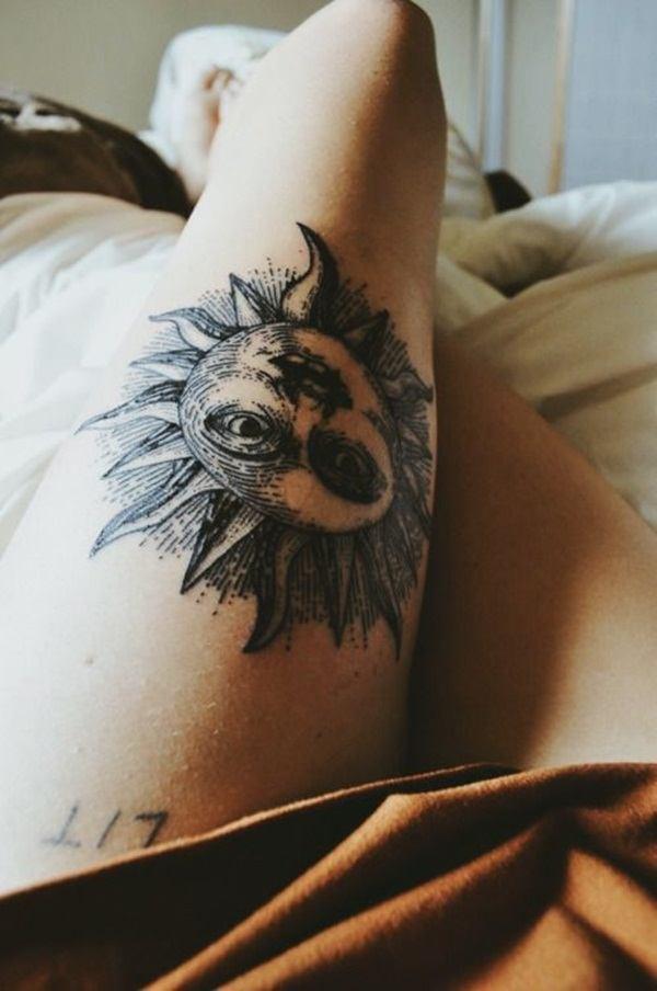 Sexy Sun Tattoo