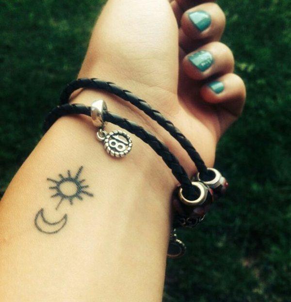 Sun Tattoo on wrist