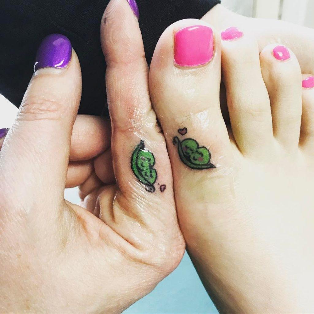 Cute Peas Pod  Tattoo