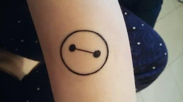 Button Shape Circle Tattoo