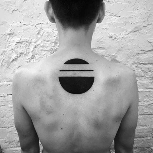Circle Tattoo at back for men