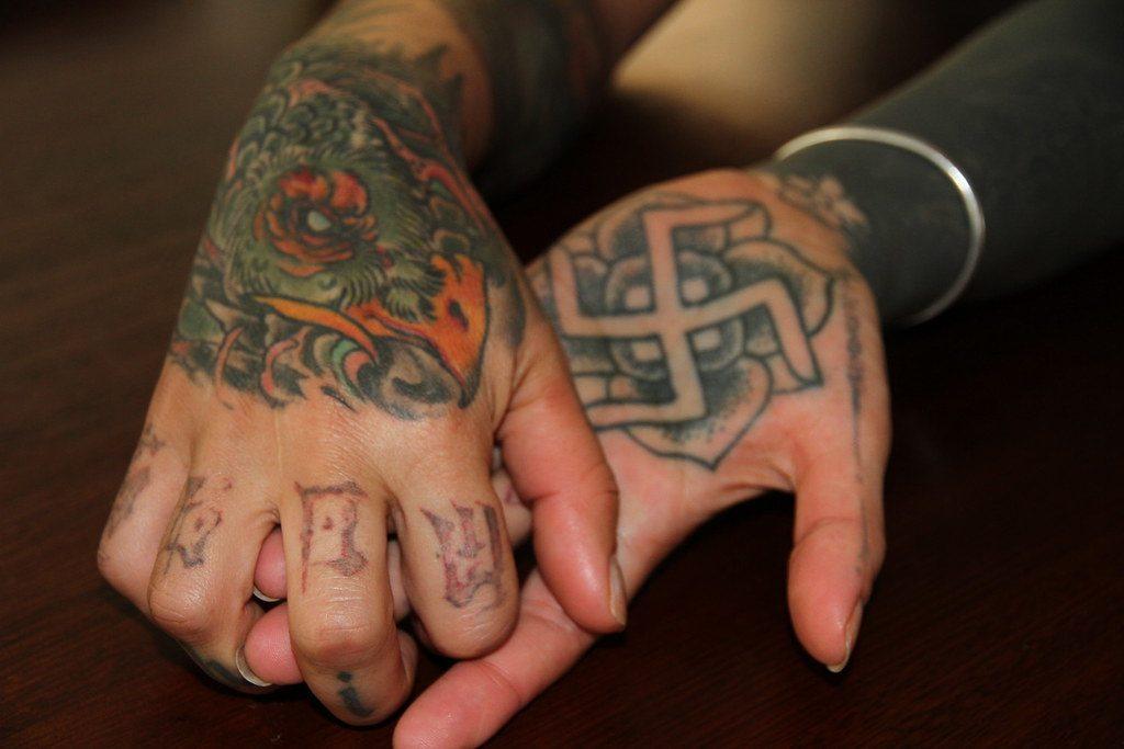 simple Swastik Tattoo
