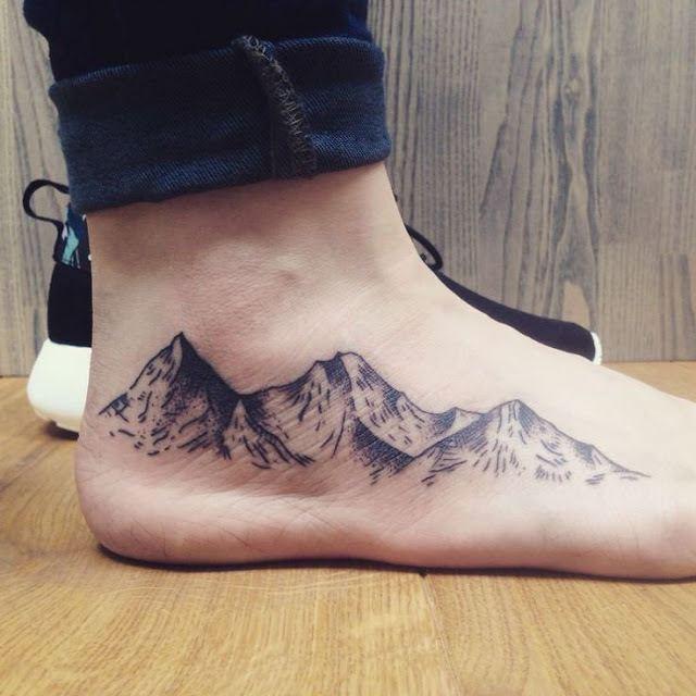 Mountain Tattoo on foot