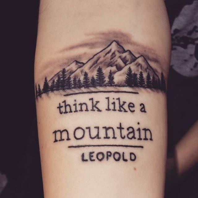 Mountain Tattoo on forearm
