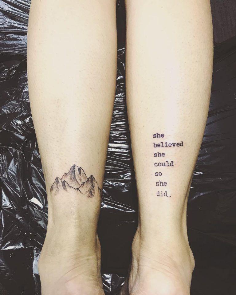 Mountain Tattoo on Leg