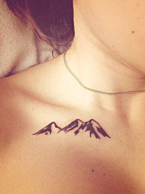 Mountain Tattoo on Neck