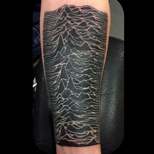 Black Wave Mountain Tattoo on hand