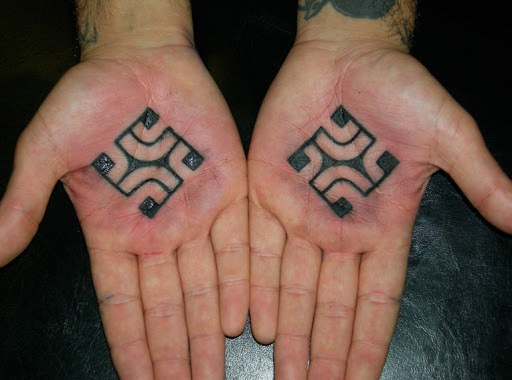 Swastik Tattoo on Hand  for Men