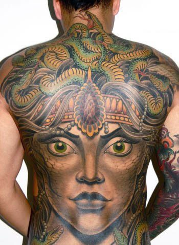 Medusa Tattoo on body