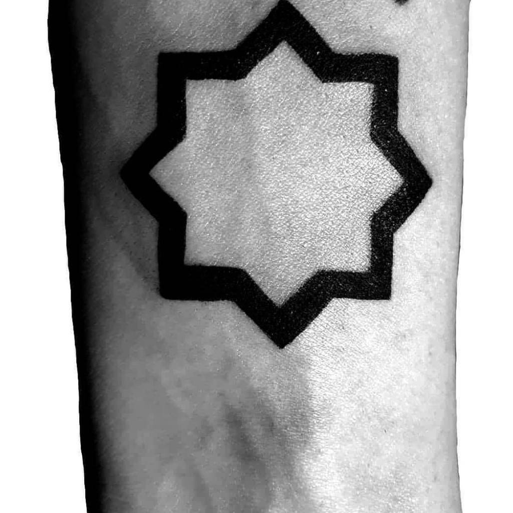 Al- Quds Star Tattoo on hand