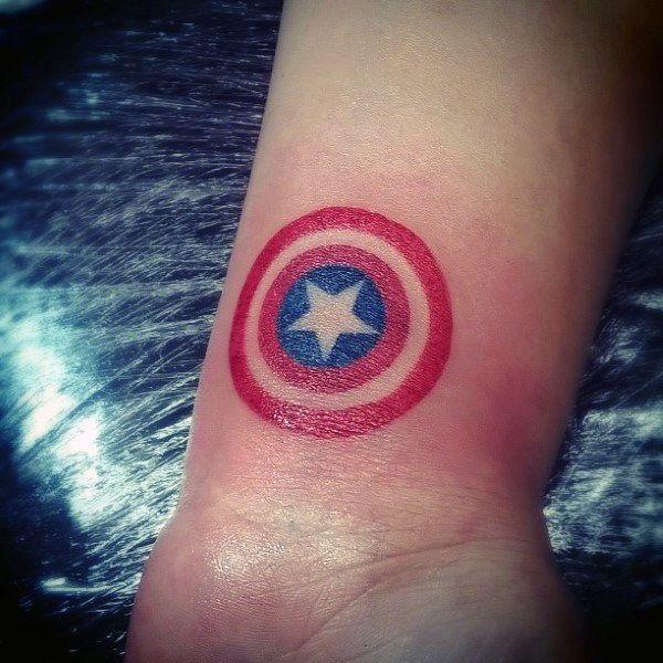 Captain America Star Tattoo for men