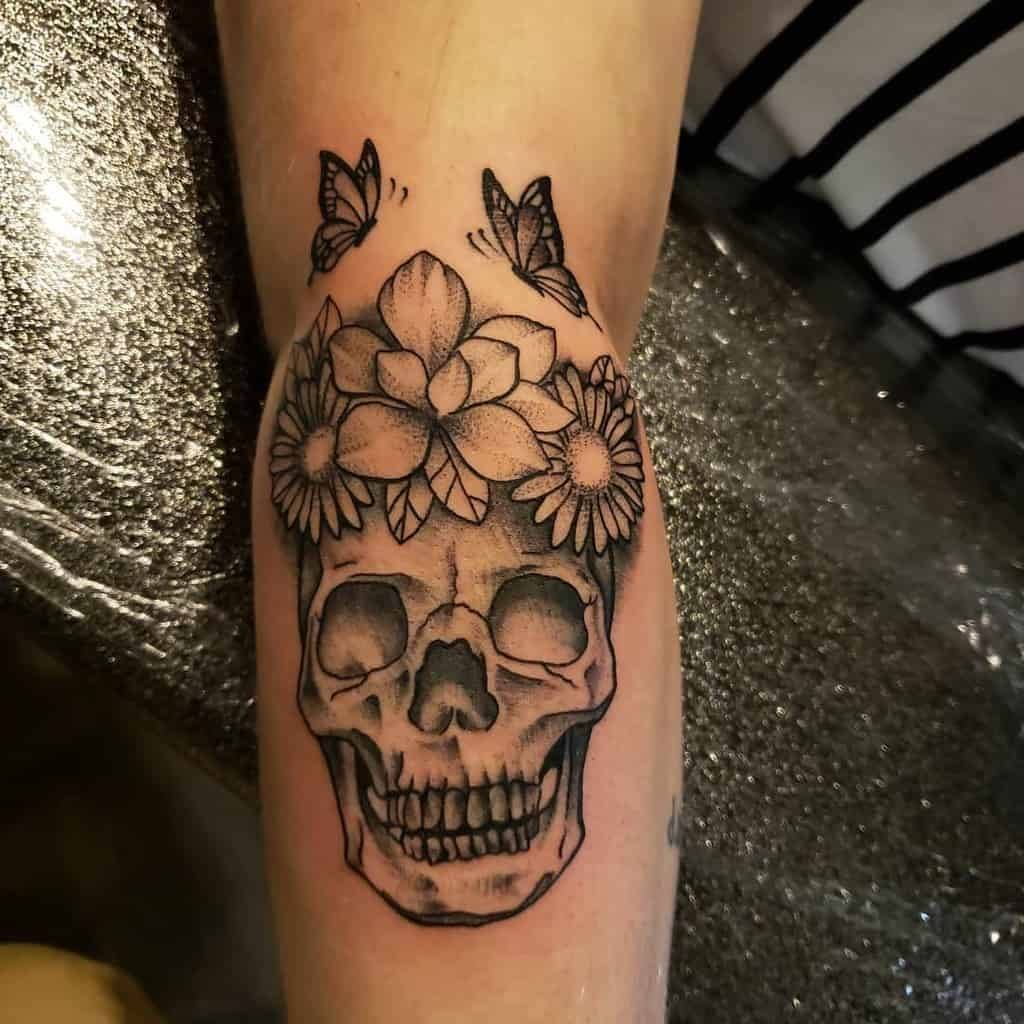 Daisy Tattoo with skull for men