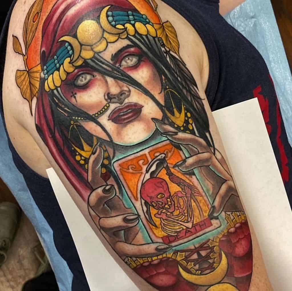 Gypsy Tattoo on shoulder for men