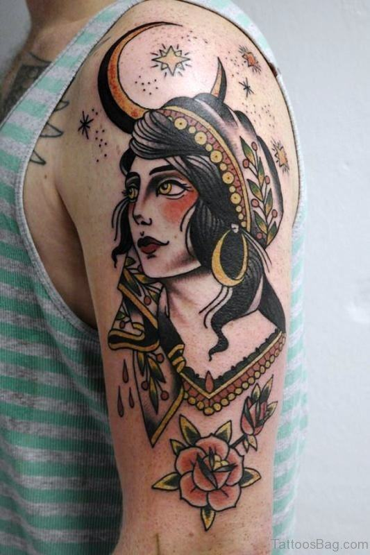 Beautiful Gypsy Tattoo for guys