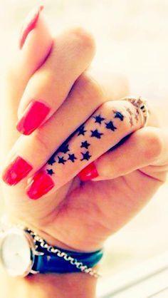 Star Tattoo on finger for women