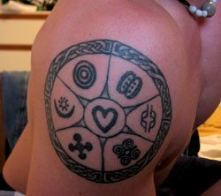 Adinkra Tattoo on shoulder