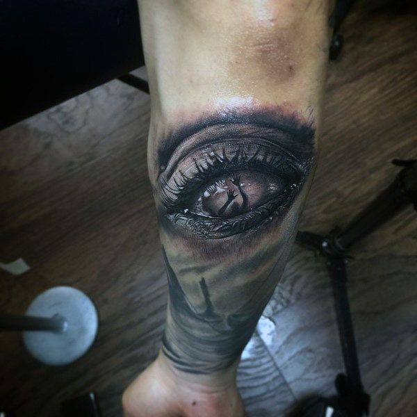 Scary One Eye Tattoo