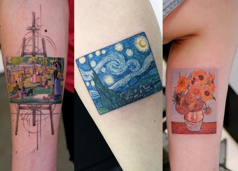 Different Painting Tattoo of Van Gogh's