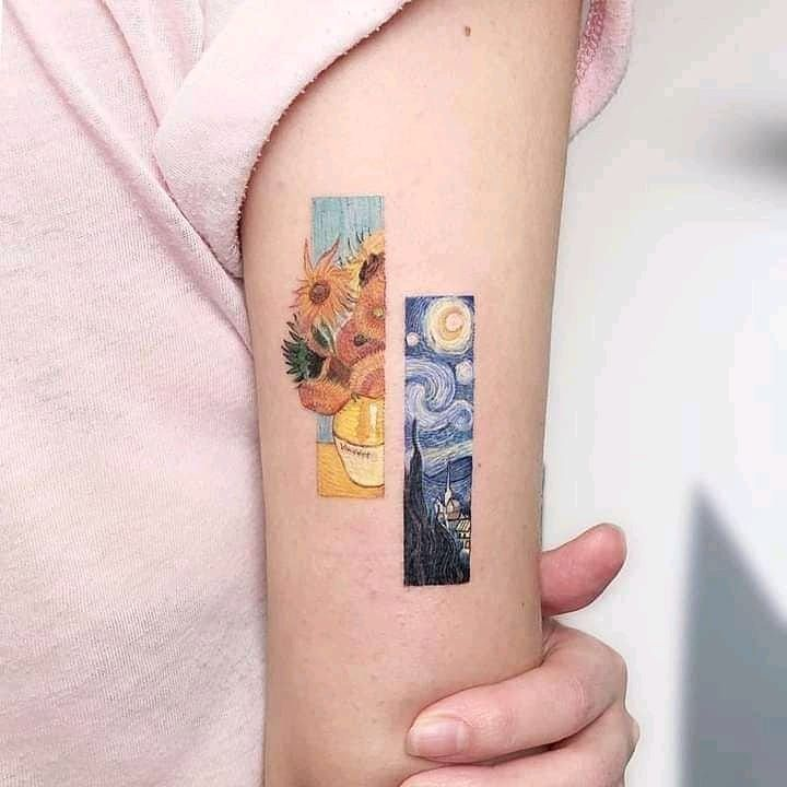 Small Painting Tattoo for women