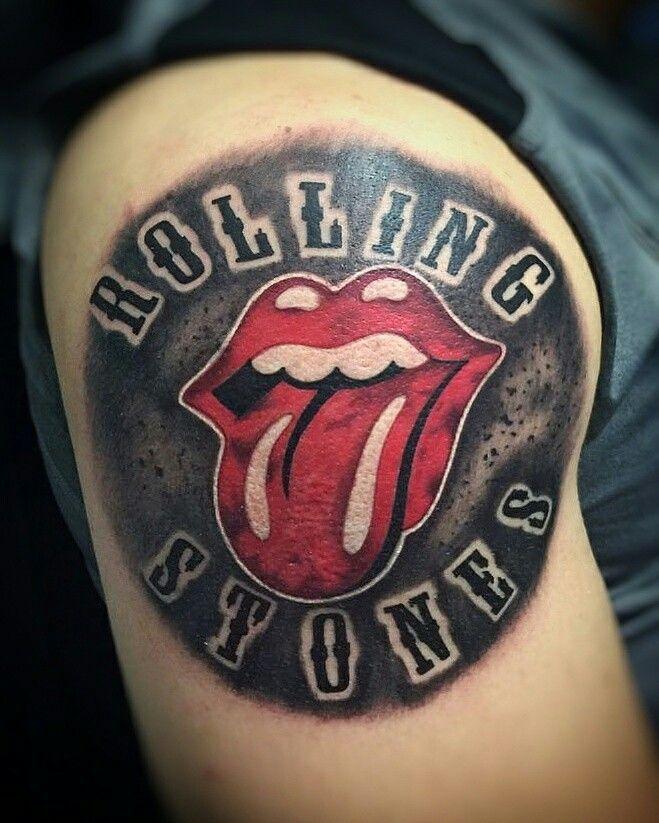 Lip tattoo for men on shoulder