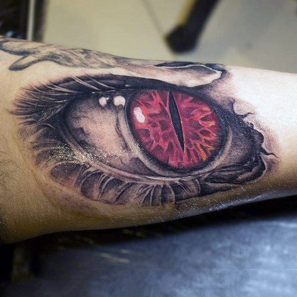 Red Snake Eye Tattoo
