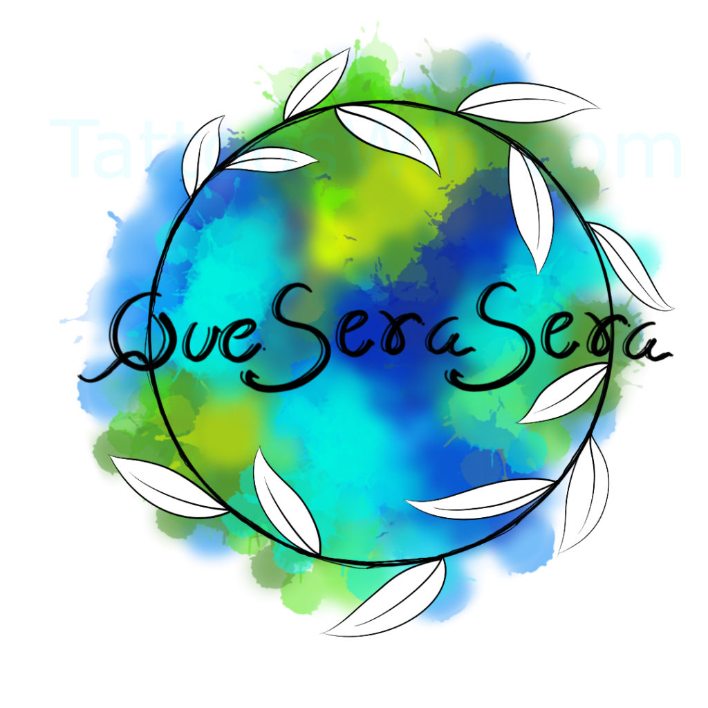 Colorful Que Sera Sera Tattoo Designs