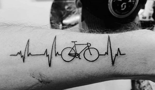 Bold Cycle Tattoo for men